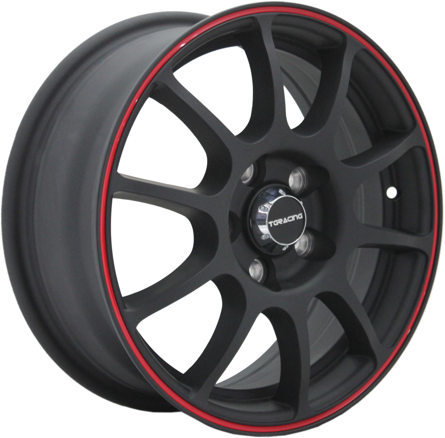 литые диски TGRACING TGR001 6x15/5x105 ET39 D56.5 MATT_BLACK_RED_RING