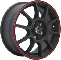 TGRACING TGR001 6x15/5x105 ET39 D56.5 MATT_BLACK_RED_RING